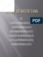 Design of Water Tank_ppt