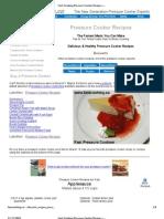 Pressure Cooker Dessert Recipes