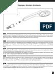 TOTO Installation Manual Handshower VH10755N en de FR IT ES