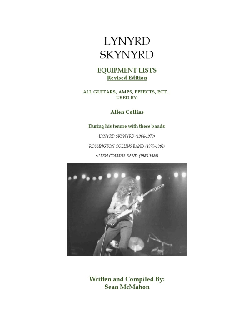 lynyrd skynyrd allen collins equipment history guitars musical instruments. Black Bedroom Furniture Sets. Home Design Ideas