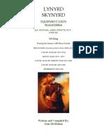 Lynyrd Skynyrd - Ed King Equipment History