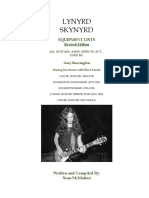 Lynyrd Skynyrd - Gary Rossington Equipment History