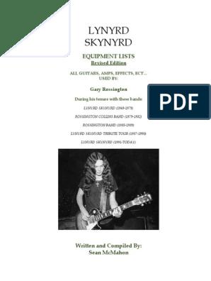 Lynyrd Skynyrd - Gary Rossington Equipment History | Celtic