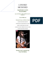 Lynyrd Skynyrd - Leon Wilkeson Equipment History
