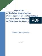 Rapport de Serge Lagauche _ Bilan Et Propositions Sur Le Régime D-Autorisations D-Aménagement Cinématographique Issu de La Loi de Modernisation de L-économie Du 4 Août 2008