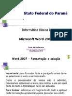 02 Word 2007 Formatacao Fonte e Paragrafo