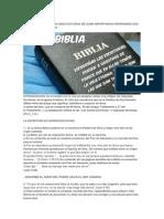 Estudio 1.- La Biblia