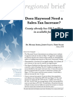 Does Haywood need a sales tax increase?