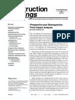 Prospective Retrospective Time Impact Analysis