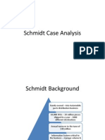 Group 3- Schmidt Case Analysis