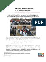 Boletin 055_Intervención Social en Santander de Quilichao Para La Prevención de Enfermedades Transmitidas Por Vectores
