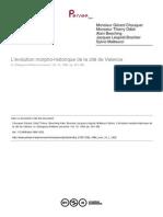 L'Évolution Morphohistorique Valence