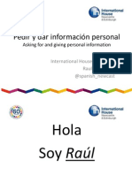 Asking for and giving personal information in Spanish