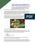 Penyebab Tanda Gejala Virus MERS