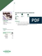 Gelado de Chocolate e Amendoim