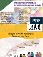 VAriabilitas Farmakokinetik Dan Farmakodinamik Berdasarkan Umur Subyek
