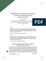 Identidades. Planteamientos Teoricos y Sugerencias Metodologicas Para Su Estudio
