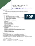 00 Programa Termodinámica II Enero-Junio-2014