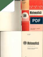 Manual - Matematica - Clasa a XII-A