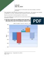 CNBC Fed Survey, Sept 16, 2014