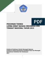 Panduan Teknis Lomba Debat Bi 2013