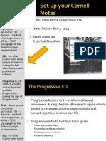 WEBNotes - Day 1 - 2014 - IntroToProgressivism