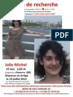 Avis de recherche de Julie Michel