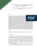 Le Rôle de La Fiche Terminologique Dans Le Langage de Spécialité de La Zootechnie.docx-lucrare