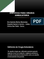 Anestesia Para Cirugia Ambulatoria 2012