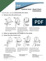 Control Cord Bead Chain Installation