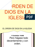 El Orden de Dios en La Iglesia