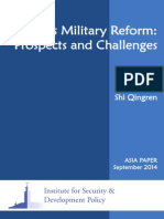 China's Military Reform- Prospects and Challenges