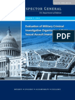 Criminal Investigations- Evaluation of Military Criminal Investigative Organizations' Child Sexual Assault Investigations