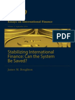 International Finance- Can the System Be Saved