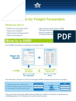 e Awb Quick Reference Guide Freight Forwarder