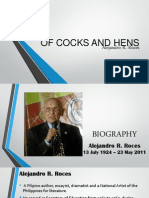 1st Sem Report English 2014-2015(of Cocks and Hens)