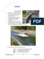 Weirs for Flow Measurement Lecture Notes