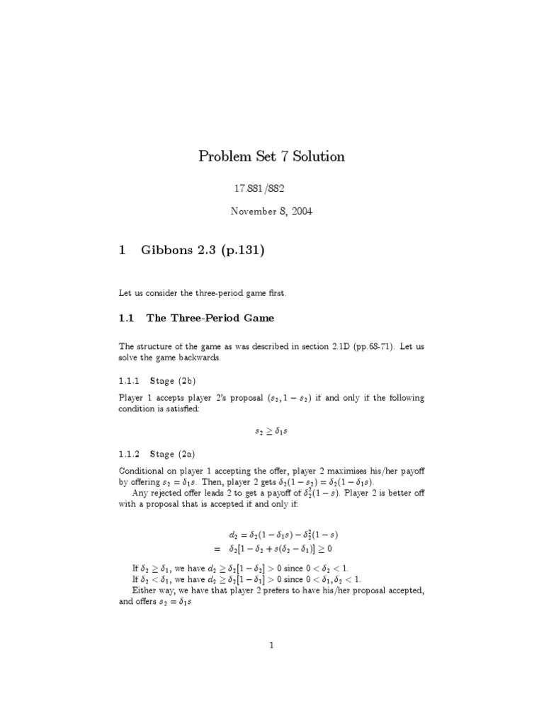 gibbons 2 3 mathematical problem solving applied mathematics rh es scribd com robert gibbons game theory solution manual gibbons game theory solution manual