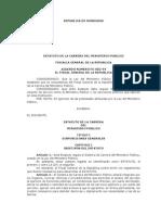 Estatuto de La Carrera Del Ministerio Público