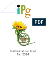 IPG Fall 2014 Classical Music Titles