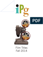 IPG Fall 2014 Film Titles