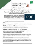 2014 Clover Christmas Classic Registration Form