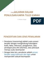 BMS2 - KFI1 - K5 - Penalaran Dalam Penulisan Karya Ilmiah