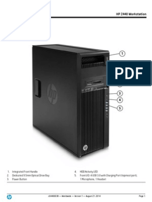 New HP Z440 workstation | Solid State Drive | Bios