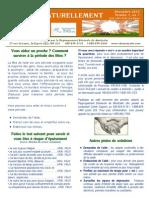 "Bulletin ""Aider ...Naturellement"" Déc. 2013 Vol.1 no.1"