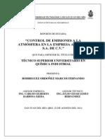 Control de Emisiones a La Atmósfera en La Empresa Acerlan s.a. de c.V.