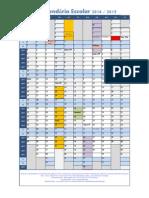 Calendario Escolar Excel 2014 15