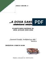 Planificare Program a Doua Sansa