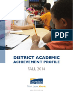 District Academic Achievement Profile - Fall 2014