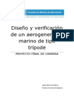 Diseño y Verificación de Un Aerogenerador Marino de Tipo Trípode